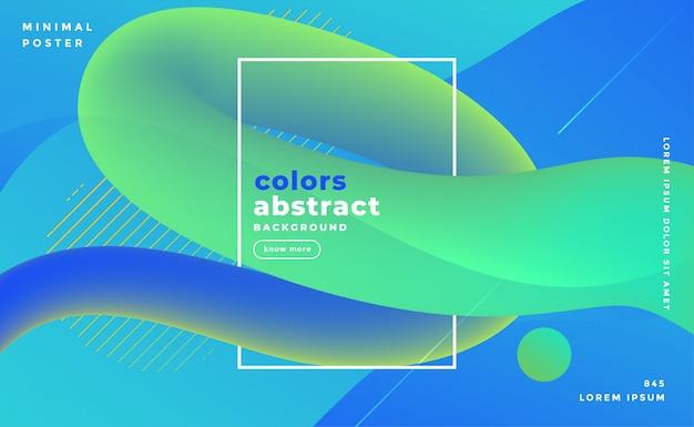 Blauwachtige abstracte vloeistof lus banner