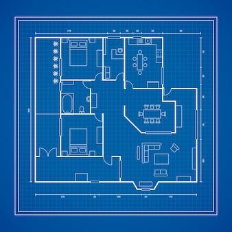 Blauwdruk van een huis