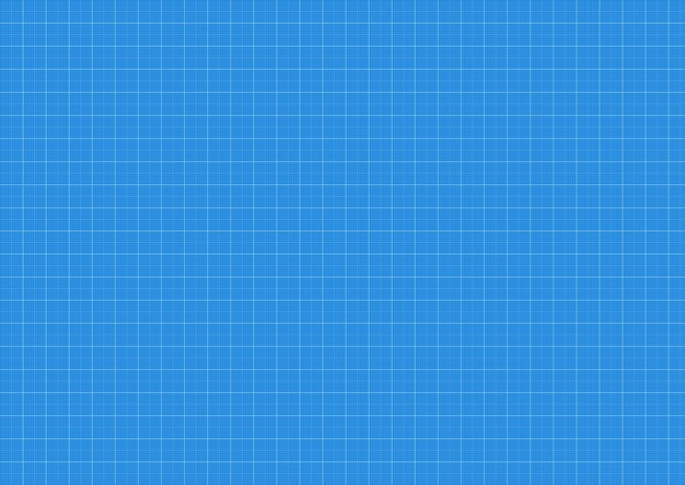 Blauwdrukachtergrond, ruitjespapier, vectorblauwdruk, patroonraster