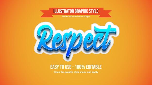Blauwe 3d sticker kalligrafie lettertype bewerkbare grafische stijl