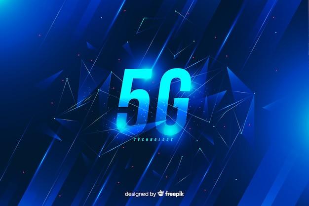 Blauwe 5g concept achtergrond