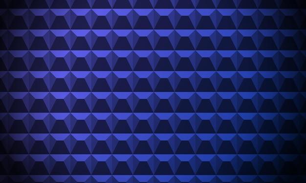 Blauwe abstracte achtergrond. akoestische schuimwand, geluidsisolatie. betonnen hek. cement muur. 3d geometrische patroon. sjabloon gemaakt van herhalende vierkanten met afgeschuinde gezichten. vector illustratie.