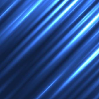 Blauwe abstracte achtergrond met diagonale lichten
