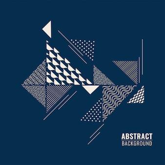 Blauwe abstracte achtergrond met driehoekige geometrische vorm