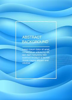 Blauwe abstracte achtergrond met golven. zee concept. vector illustratie