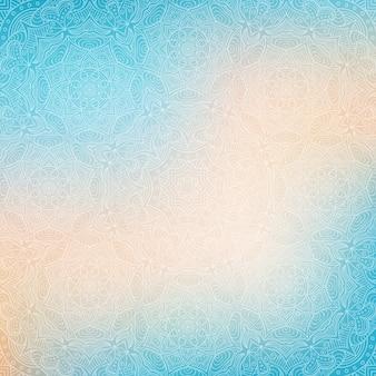 Blauwe abstracte achtergrond met mandala's