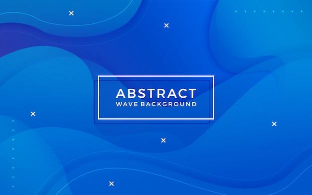 Blauwe abstracte achtergrond met memphis elementen