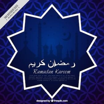 Blauwe abstracte achtergrond ramadan