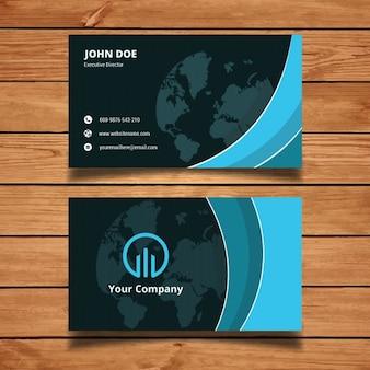 Blauwe abstracte adreskaartjemalplaatje