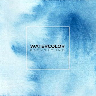 Blauwe abstracte aquarel achtergrond.