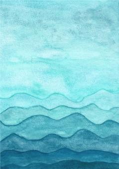 Blauwe abstracte aquarel textuur achtergrond
