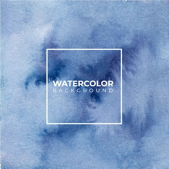 Blauwe abstracte aquarel textuur achtergrond.