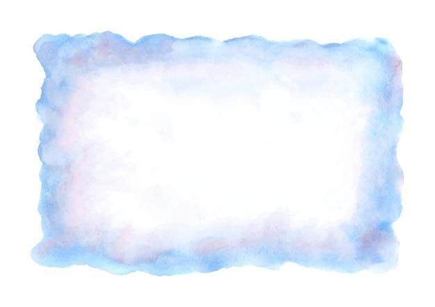 Blauwe abstracte aquarel vlek.