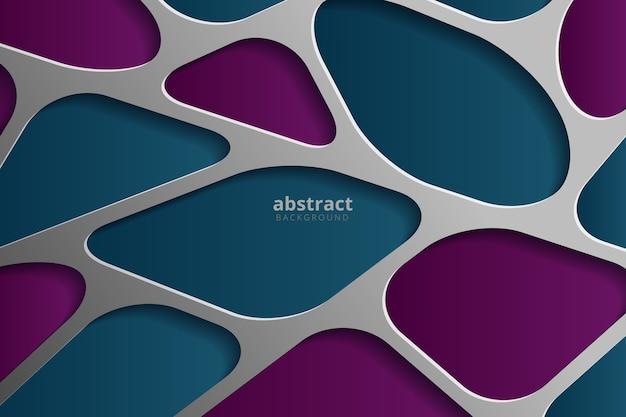 Blauwe abstracte bcakground met geïsoleerde overlappingslaag