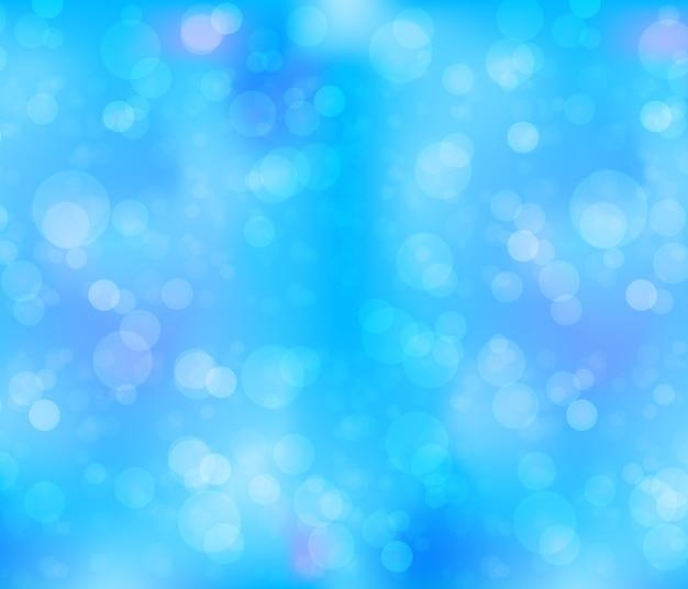 Blauwe abstracte bokeh achtergrond