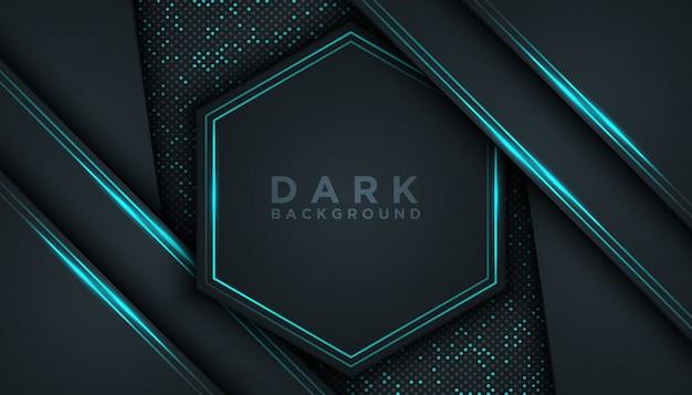 Blauwe abstracte dimensie zwarte achtergrond
