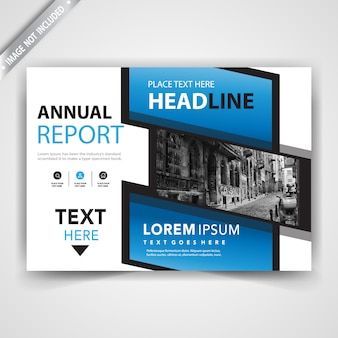 Blauwe abstracte flyer kaartsjabloon