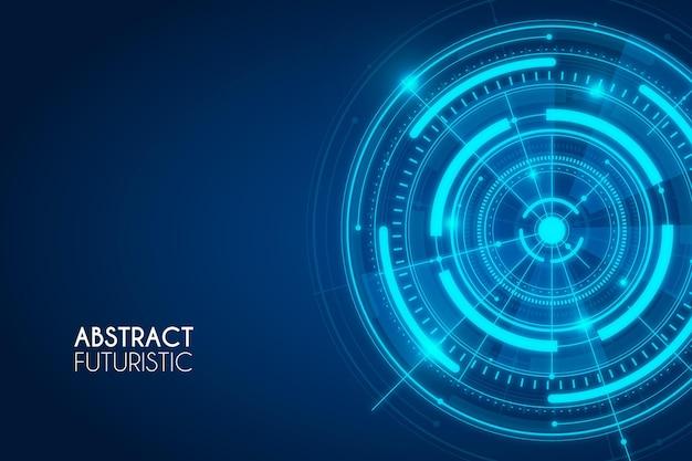 Blauwe abstracte futuristische achtergrond