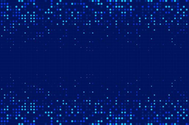 Blauwe abstracte halftone effect achtergrond