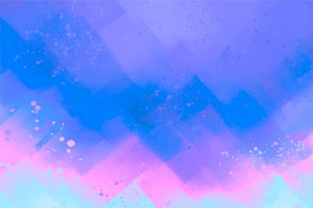 Blauwe abstracte handgeschilderde achtergrond