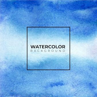 Blauwe abstracte handgeschilderde aquarel textuur achtergrond.