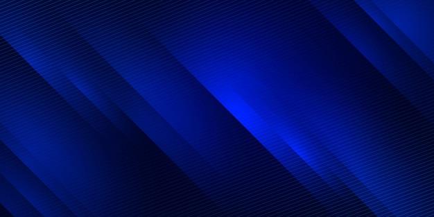 Blauwe abstracte kleurovergang horizontale banner achtergrond