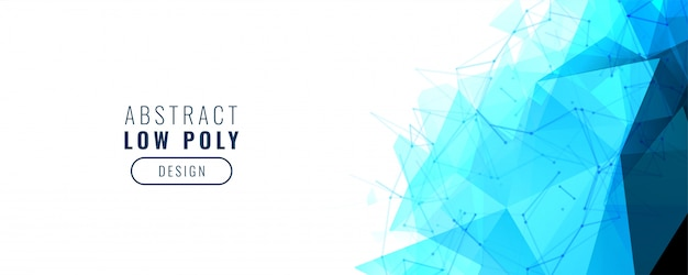 Blauwe abstracte laag poly geometrische banner