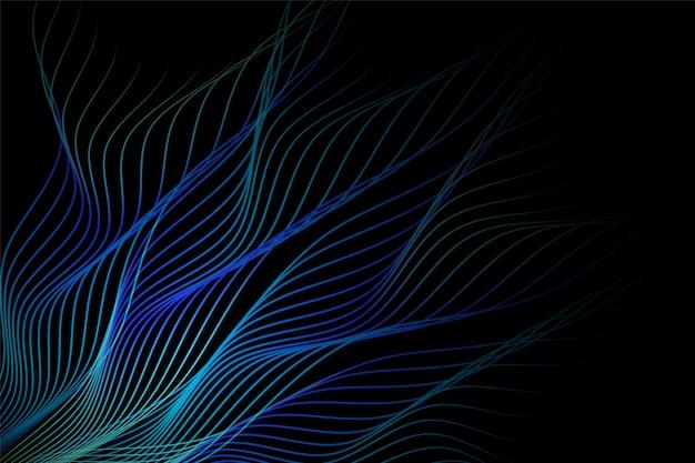 Blauwe abstracte lijnen en golvende achtergrond