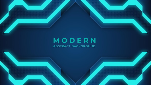 Blauwe abstracte moderne achtergrond die digitale achtergrond aansteken