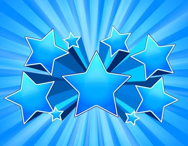 Blauwe abstracte sterren