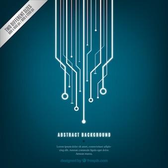 Blauwe abstracte technologie achtergrond