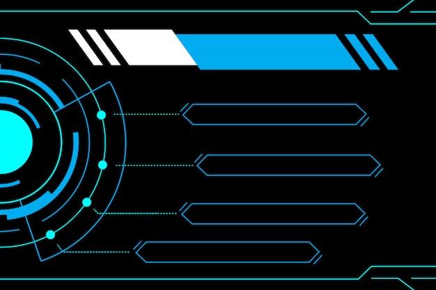 Blauwe abstracte technologie toekomstige interface