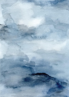 Blauwe abstracte textuurachtergrond met waterverf