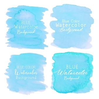 Blauwe abstracte waterverfachtergrond. aquarel element voor kaart.