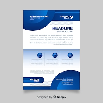 Blauwe abstracte zakelijke folder sjabloon
