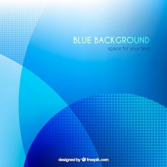 Blauwe achtergrond, golvende vormen