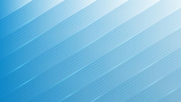Blauwe achtergrond met diagonale stralende lijnen en punten.