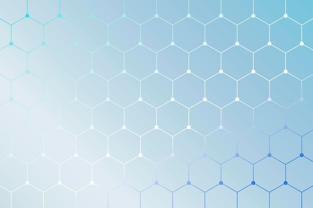 Blauwe achtergrond met geometrische honingraatpatroon