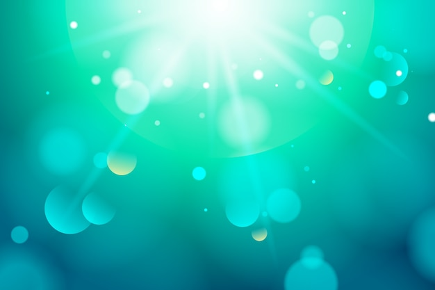 Blauwe achtergrond met kleurovergang met bokeh-effect