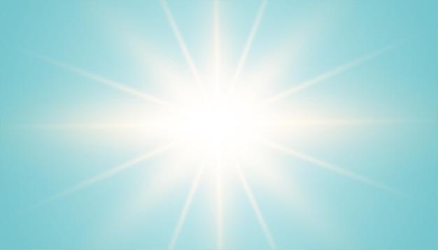 Blauwe achtergrond met lensgloedeffect in het midden