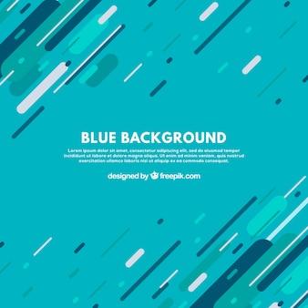 Blauwe achtergrond met leuke lijnen