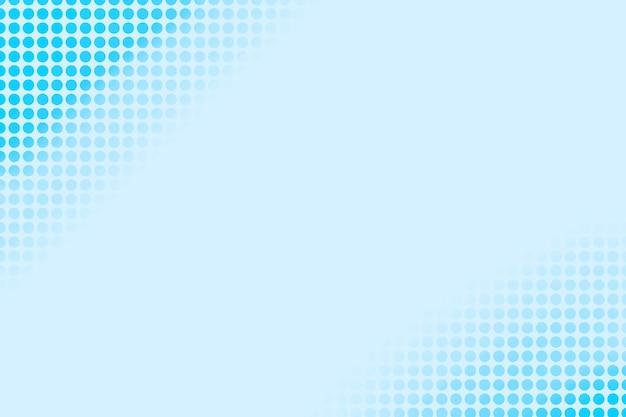 Blauwe achtergrond met stippen Gratis Vector