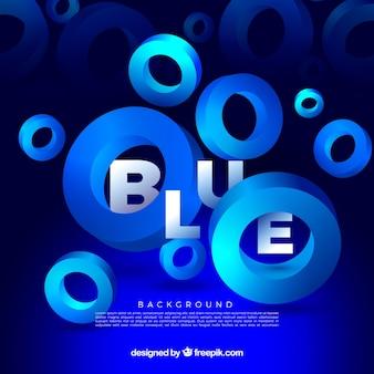 Blauwe achtergrond met vormen