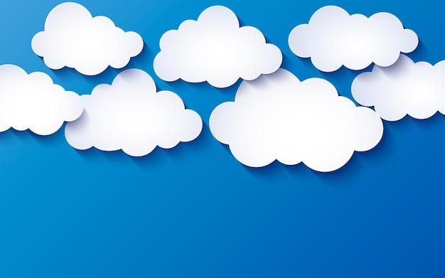 Blauwe achtergrond met wolken