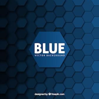 Blauwe achtergrond met zeshoeken
