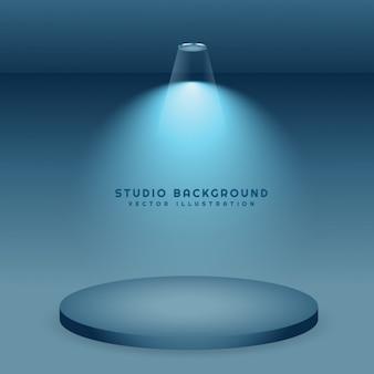 Blauwe achtergrond studio