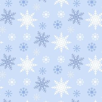 Blauwe achtergrond van het sneeuwvlok de naadloze patroon