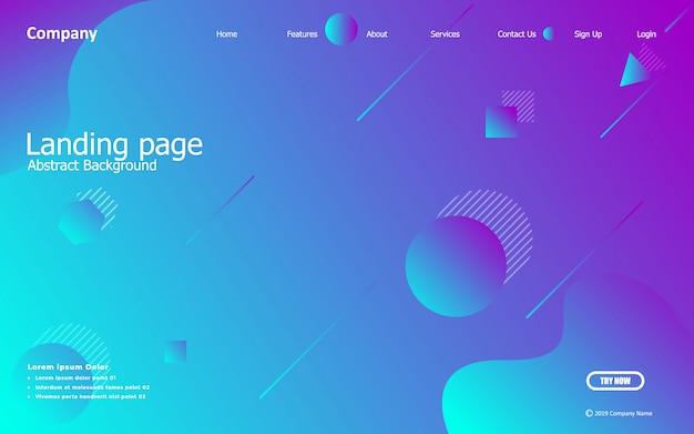 Blauwe achtergrond. vloeibare samenstelling. ontwerpen voor landingspagina, posters, folders, vectorillustraties