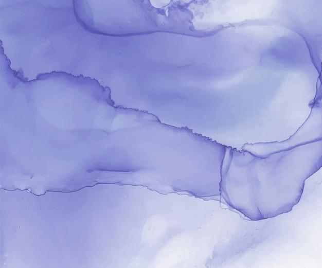 Blauwe alcohol inkt aquarel achtergrond