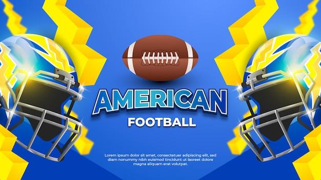 Blauwe american football helm achtergrond